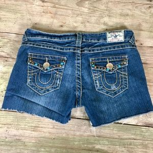 True Religion Billy cutoff shorts stud detail 30